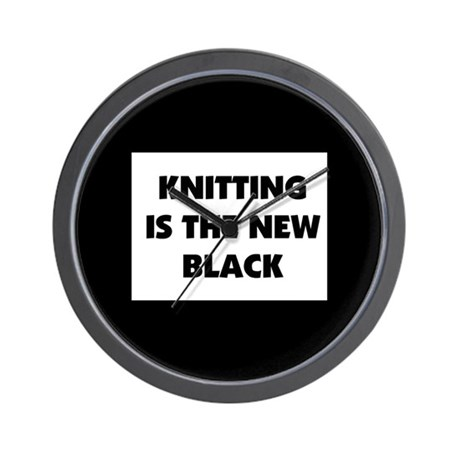 Knitting Is The New Black Wall Clock
