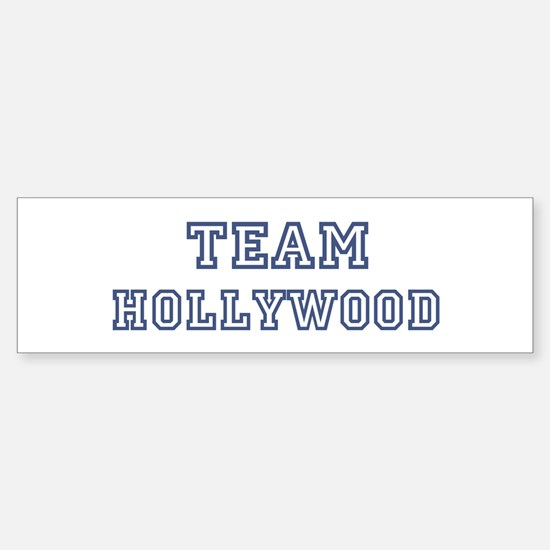Team Hollywood Bumper Bumper Bumper Sticker