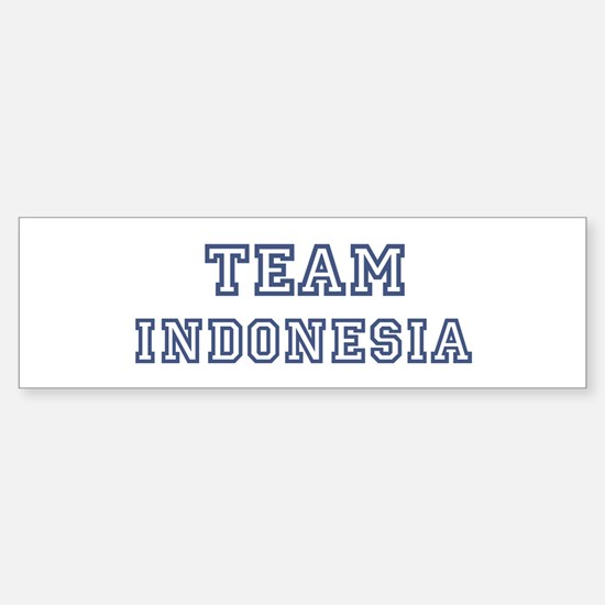 Team Indonesia Bumper Bumper Bumper Sticker
