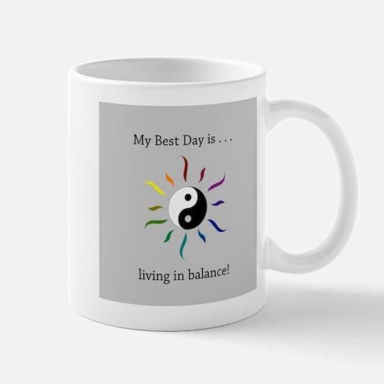 Best Day Yin Yang Rainbow Sun Mugs