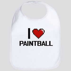 I Love Paintball Digital Design Bib