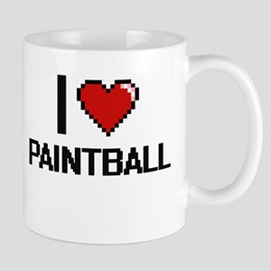 I Love Paintball Digital Design Mugs