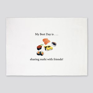 Best Day Sharing Sushi Gifts 5'x7'Area Rug