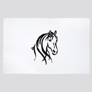 Black Horse 4' x 6' Rug