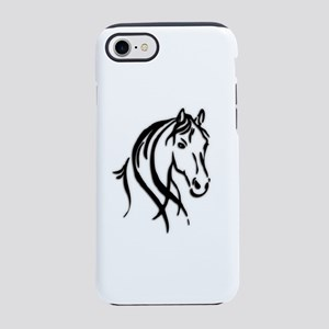 Black Horse iPhone 8/7 Tough Case