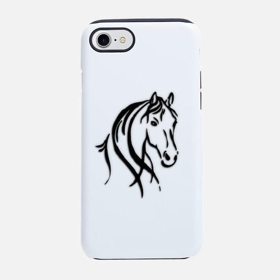 Black Horse iPhone 8/7 Tough Case
