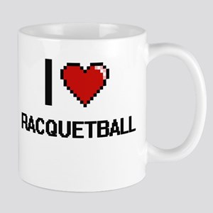 I Love Racquetball Digital Design Mugs