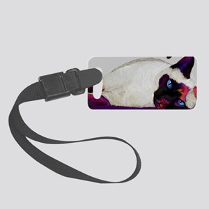 Galactic cat Small Luggage Tag