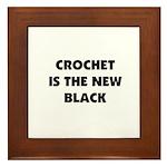 Crochet Is the New Black Framed Tile