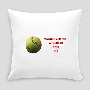Yellow Softball Team Design Everyday Pillow