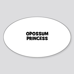 opossum princess Oval Sticker