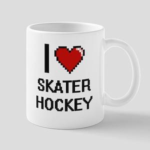 I Love Skater Hockey Digital Design Mugs