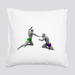 Martial Arts Conce Square Canvas Pillow