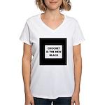 Crochet Is the New Black Women's V-Neck T-Shirt