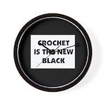 Crochet Is the New Black Wall Clock
