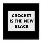 Crochet Is the New Black Tile Coaster