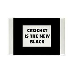 Crochet Is the New Black Rectangle Magnet (10 pack