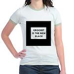 Crochet Is the New Black Jr. Ringer T-Shirt