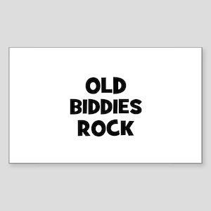 Old Biddies Rock Rectangle Sticker