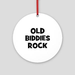 Old Biddies Rock Ornament (Round)