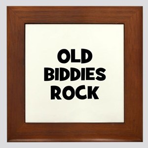 Old Biddies Rock Framed Tile