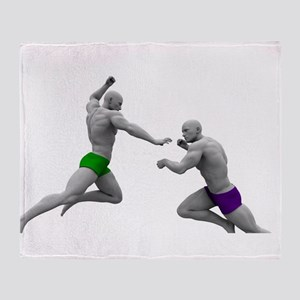 Martial Arts Conce Throw Blanket