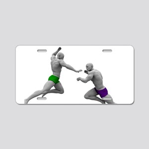 Martial Arts Conce Aluminum License Plate
