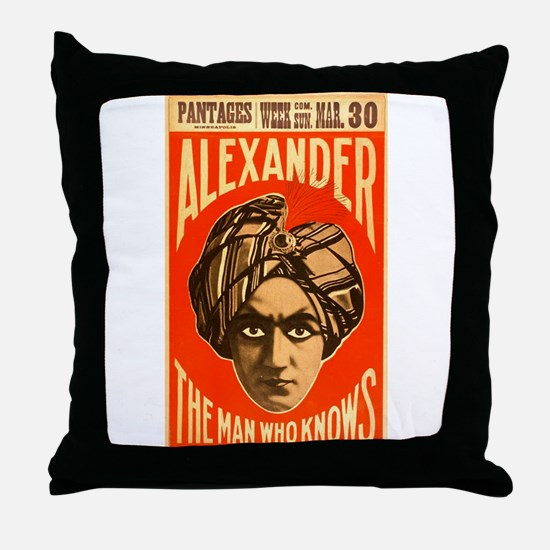 Alexander - The Man Who Knows Throw Pillow