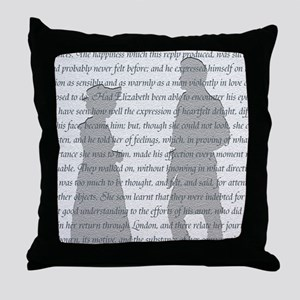 Pride and Prejudice Throw Pillow