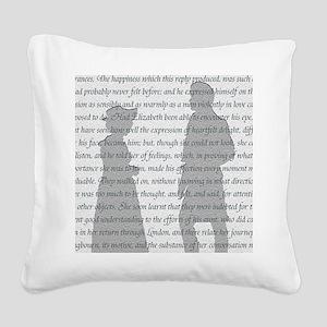 Pride and Prejudice Square Canvas Pillow