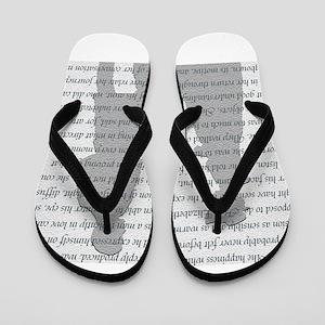 Pride and Prejudice Flip Flops