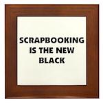 Scrapbooking is the New Black Framed Tile