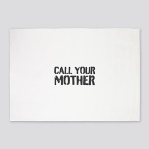Call Your Mother 5'x7'Area Rug