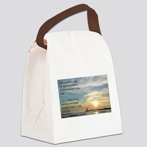 Lighthouse, friend Canvas Lunch Bag