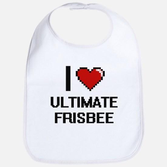 I Love Ultimate Frisbee Digital Design Bib