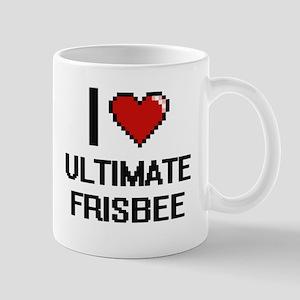I Love Ultimate Frisbee Digital Design Mugs