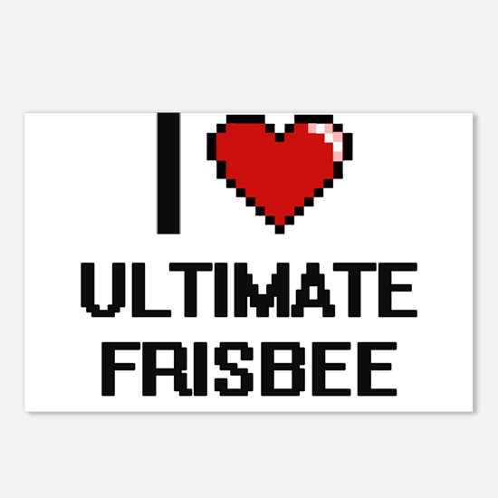 I Love Ultimate Frisbee D Postcards (Package of 8)