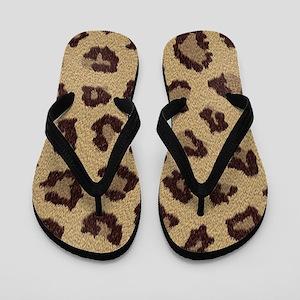 aa2c14ae754ba2 Leopard Fur Flip Flops - CafePress