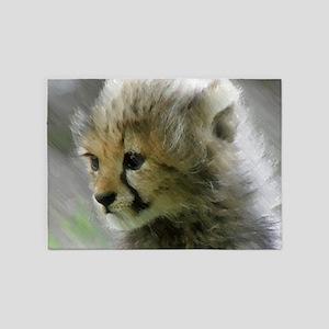 Cheetah 015 5'x7'Area Rug