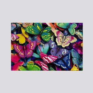 Field of Butterflies Rectangle Magnet