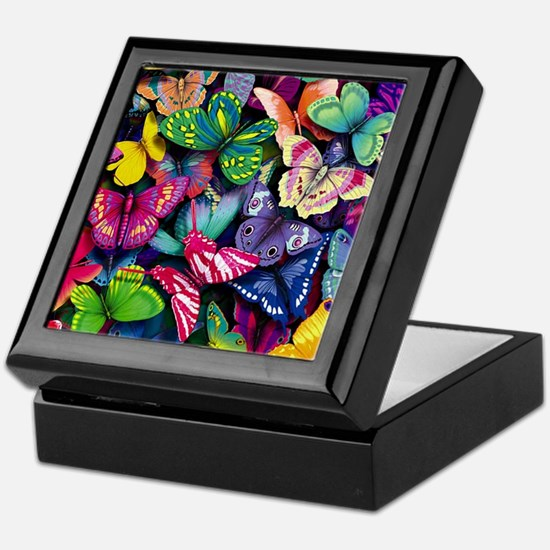 Field of Butterflies Keepsake Box