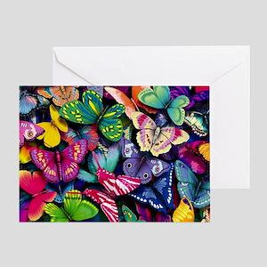 Field of Butterflies Greeting Card
