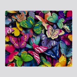 Field of Butterflies Throw Blanket