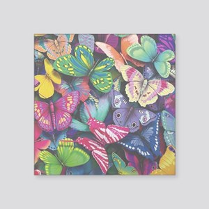 "Field of Butterflies Square Sticker 3"" x 3"""