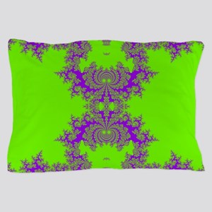 Green Fractals Pillow Case