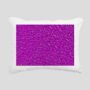 Sparkling Glitter Rectangular Canvas Pillow