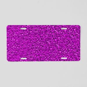 Sparkling Glitter Aluminum License Plate