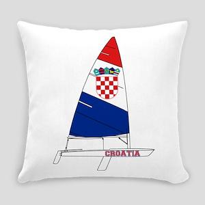 Croatia Dinghy Sailing Everyday Pillow