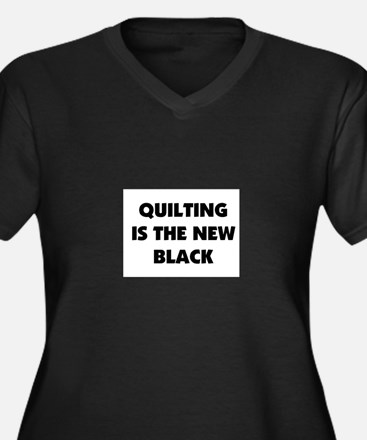 Quilting is the New Black Women's Plus Size V-Neck