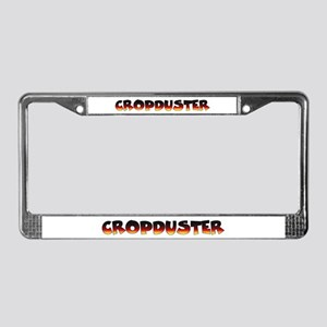 Cropduster - fart joke License Plate Frame